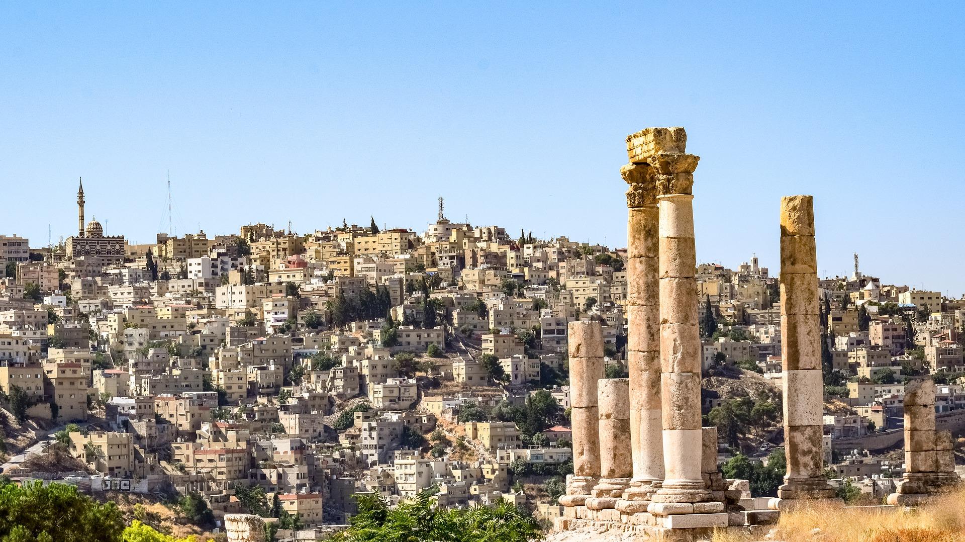 Vue sur Amman, jordanie